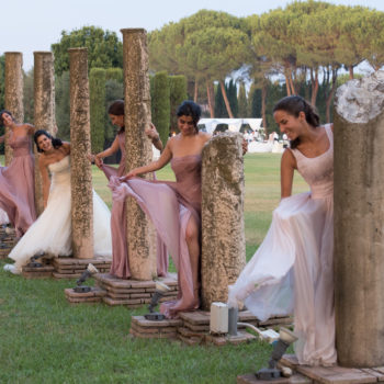 The roman bridal party